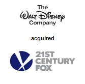 The Walt Disney Company acquired 21st Century Fox