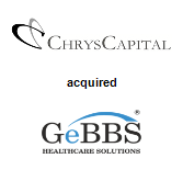 ChrysCapital acquired GeBBS Healthcare Solutions
