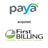 Paya, Inc. acquired First Billing Services