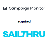 Campaign Monitor acquired Sailthru, Inc.