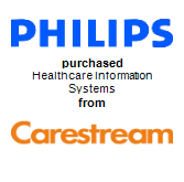 Philips Electronics NV will purchase Healthcare Information Systems from CareStream Health