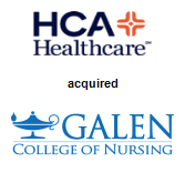 HCA Holdings, Inc. acquired Galen College of Nursing