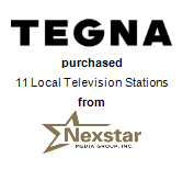 TEGNA Inc. purchased 11 Local Television Stations from Nexstar Media Group
