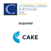 Constellation Software, Inc. acquired Cake Software, Inc.