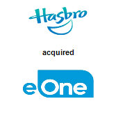 Hasbro, Inc. acquired Entertainment One Ltd