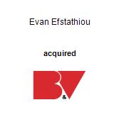 Evan Efstathiou acquired Burmester & Vogel