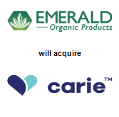 Emerald Organic Products, Inc. will acquire Carie Health Inc.