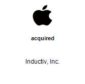 Apple, Inc. acquired Inductiv, Inc.