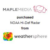 Maple Media purchased NOAA Hi-Def Radar from WeatherSphere