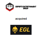 Esports Entertainment Group, Inc. acquired Esports Gaming League
