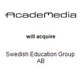 AcadeMedia AB will acquire Swedish Education Group AB