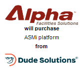Alpha Facilities Solutions will purchase ASMi platform from Dude Solutions, Inc.
