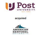 Post University acquired American Sentinel University