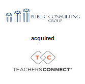 Public Consulting Group, Inc. acquired TeachersConnect